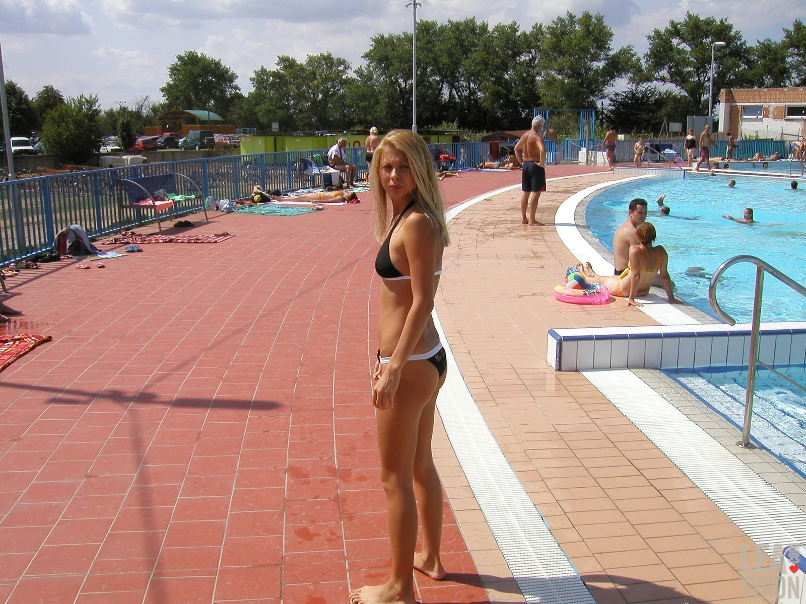 public naked girl young swimming