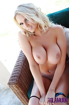 Cara Brett strips naked outdoors
