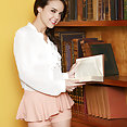 Dillion Harper shows her sexy naked body at library - image