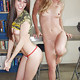 Rachel Sexton gets lesbo with Misty Gates - image