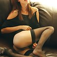 Ashley Doll in black stockings - image
