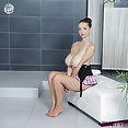Buffy big naked tits in shower - image