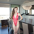 Emily Bloom in pink lingerie - image