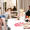 3 girl pornstars group sex orgy - image