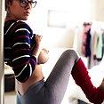Sabrina in tight yoga pants - image