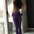 Rylee Marks in purple pantyhose - image