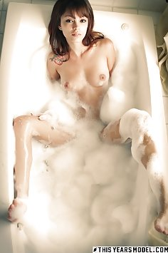 Ashley Doll covered with soap suds