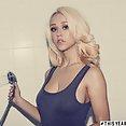 Sabrina blonde hottie showering - image