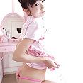 Japanese teen babe Minami nude - image