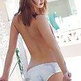 Aspen Martin tiny shiny bikini - image
